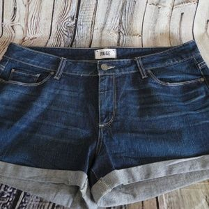 PAIGE $149 Jimmy Jimmy Shorts Rolled Hem Shorts